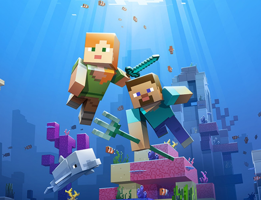 Minecraft Update Aquatic is here!