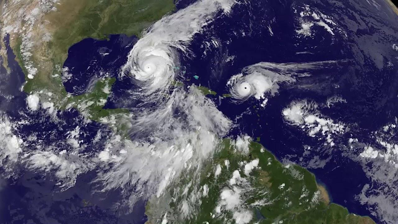 Satellite Hurricane Irma Over South Florida